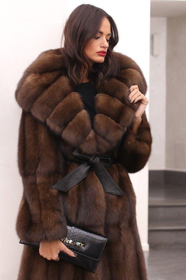 Sable Fur Coat >> Russian Sable Fur Coat Furrier Inspiration In 2019 Fur Sable