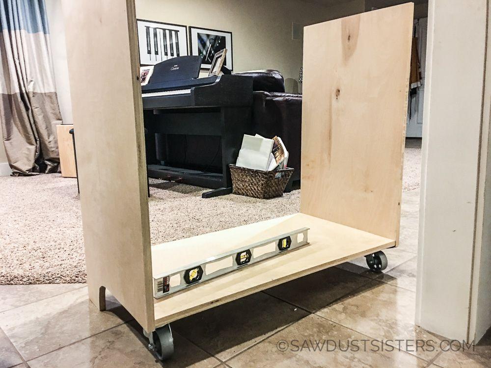 Diy mini refrigerator storage free plans