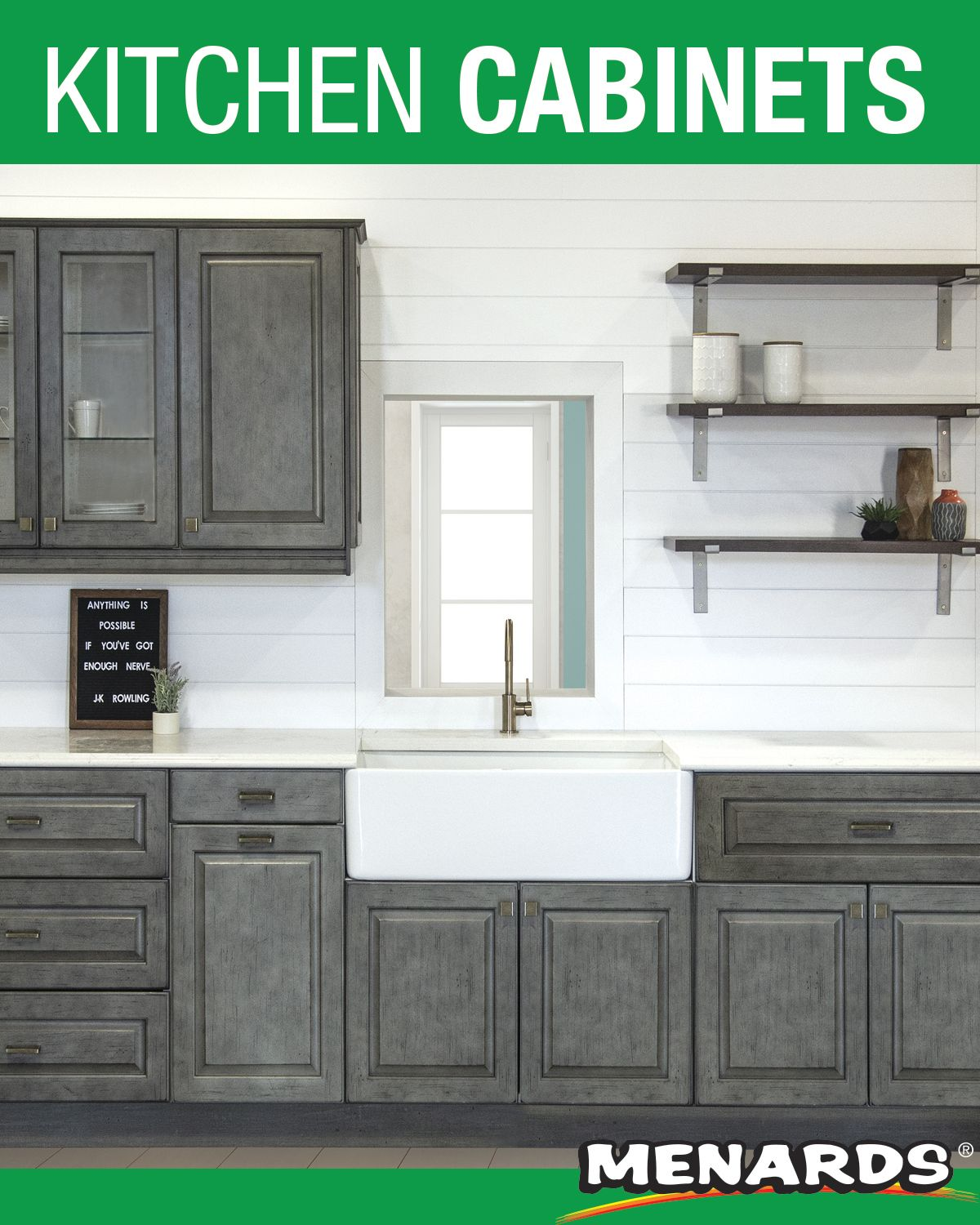 Klearvue Cabinetry Is A Menards Exclusive Cabinetry Program That Gives You The Look And Feel Of Custom Cabinetry With Kitchen Cabinets Cabinet Kitchen Remodel