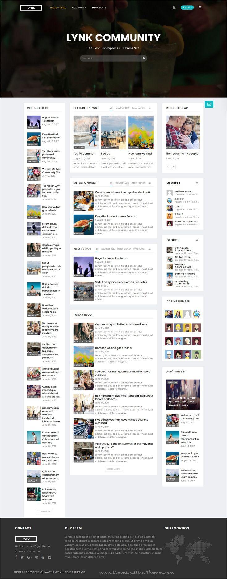 Lynk - Social Networking and Community WordPress Theme | Wordpress