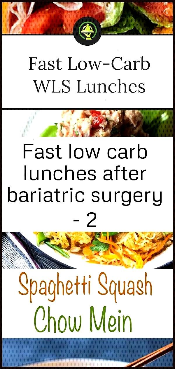 Fast low carb lunches after bariatric surgery - 2 Fast low carb lunches after bariatric surgery - 2