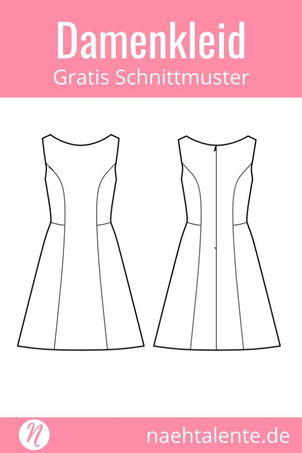 Sommerkleid in A-Linie | Sewing ideas, Sewing patterns and Patterns
