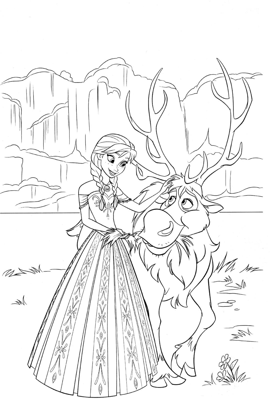 Disney frozen coloring pages facebook - Disney Coloring Pages