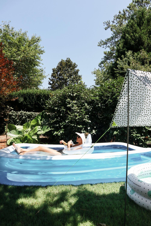 Backyard Pool   Blow up pool, Backyard pool, Tree house ...