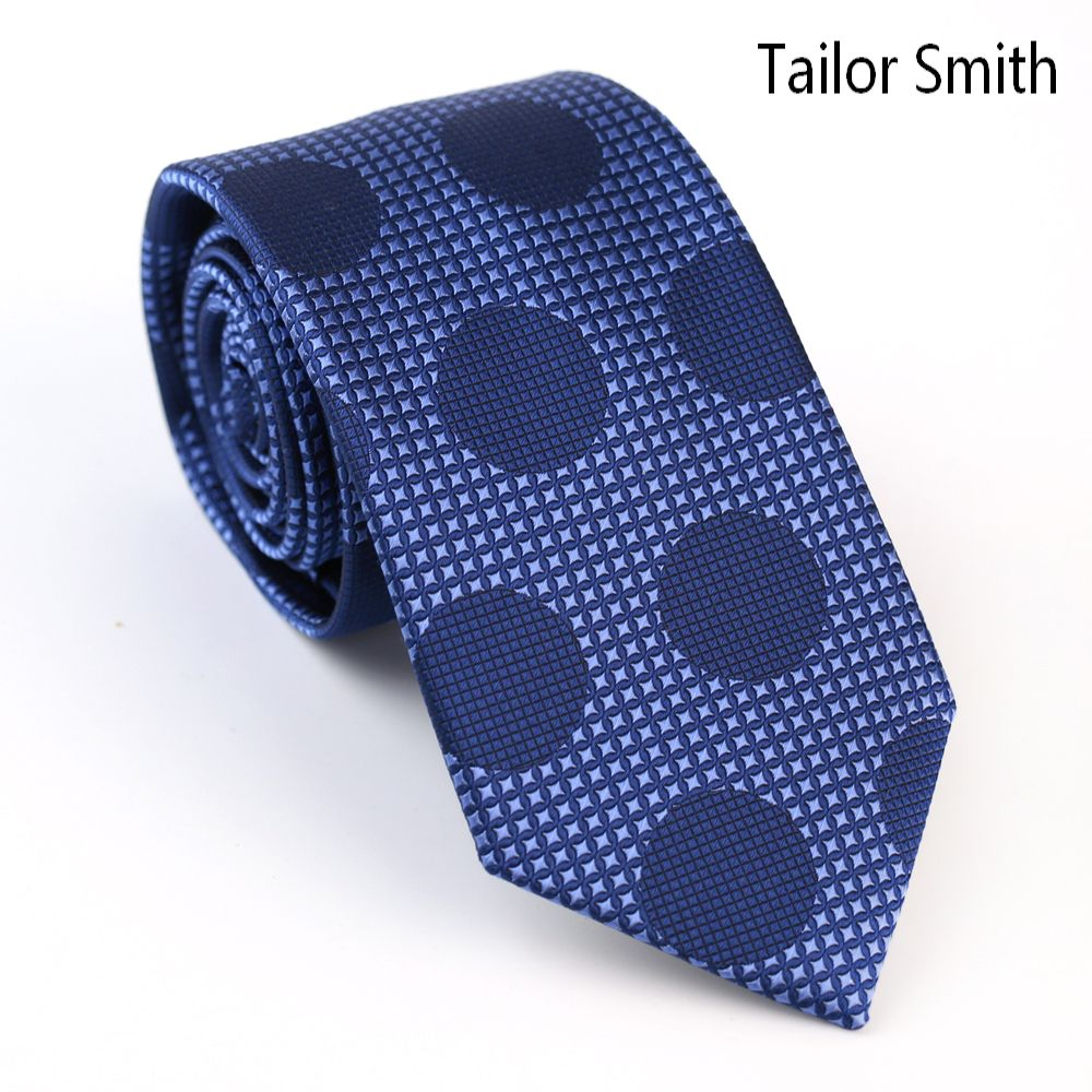 Click to buy ucuc tailor smith mens luxury designer polka dot navy tie