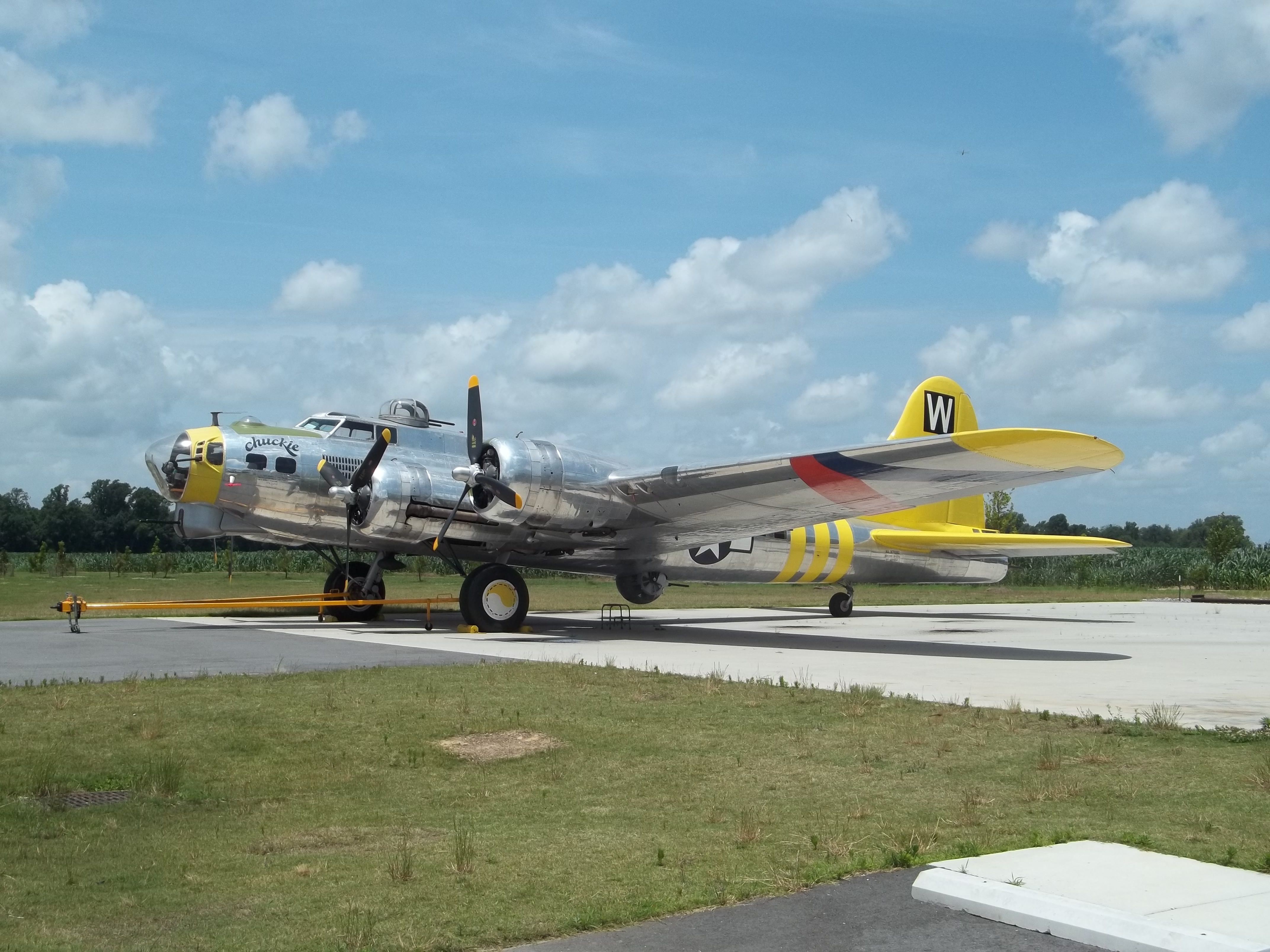 "The B17 Flying Fortress ""Chuckie"" was acquired by the"