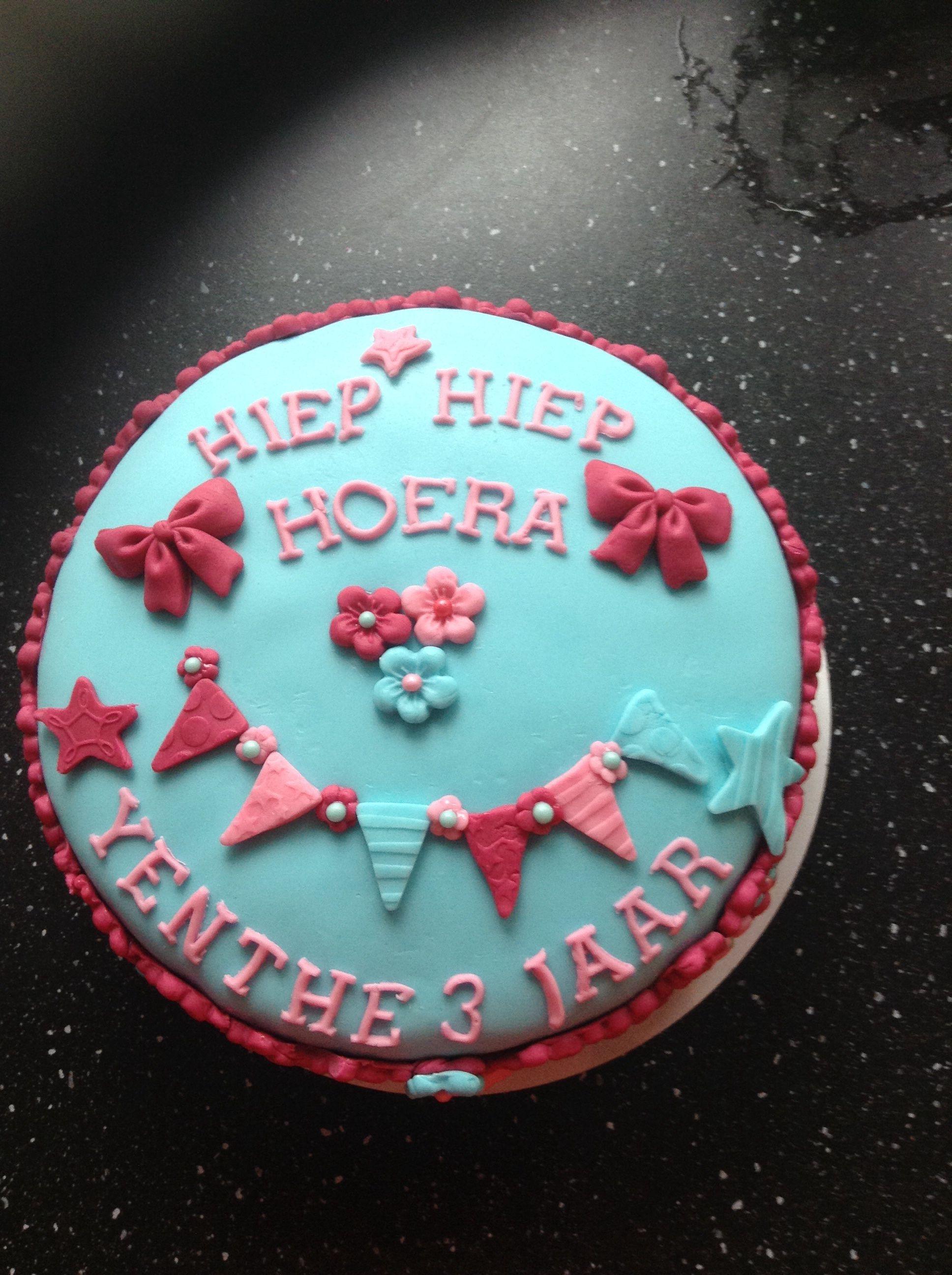 Verjaardagstaart Meisje 3 Jaar Verjaardag Hanna Pinterest