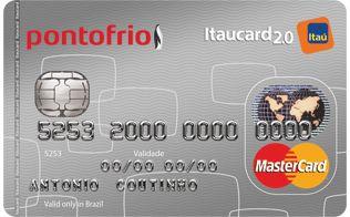 Cartao De Credito Pontofrio Mastercard Itaucard 2 0 Com Imagens
