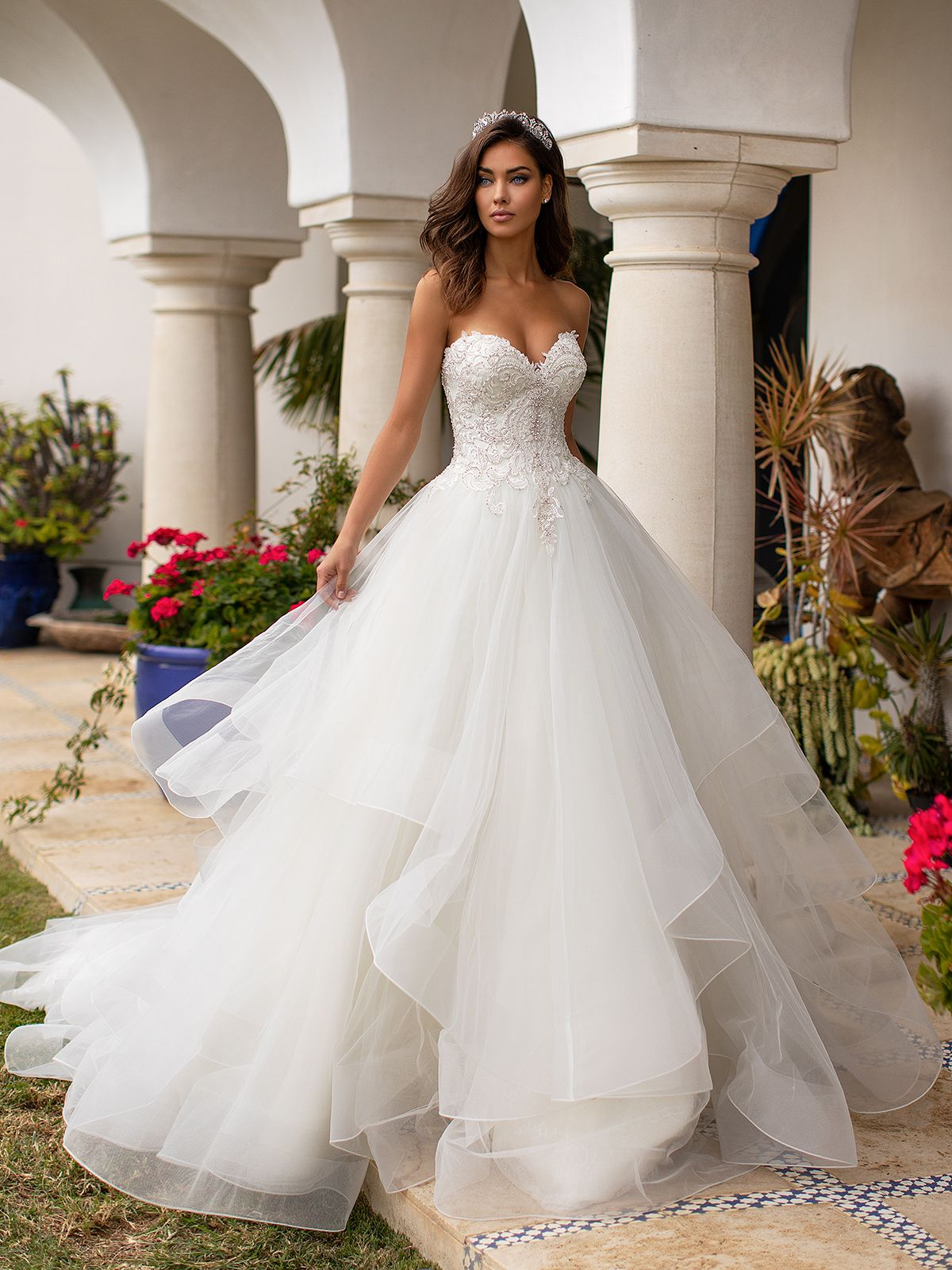 Sweetheart Whimsical Tulle Ball Gown Moonlight Couture