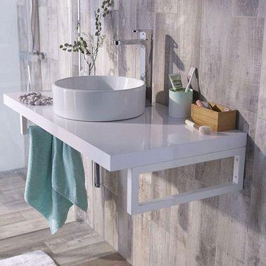 petite salle de bain 11 id es pratiques et d co plan vasque petites salles de bain et. Black Bedroom Furniture Sets. Home Design Ideas