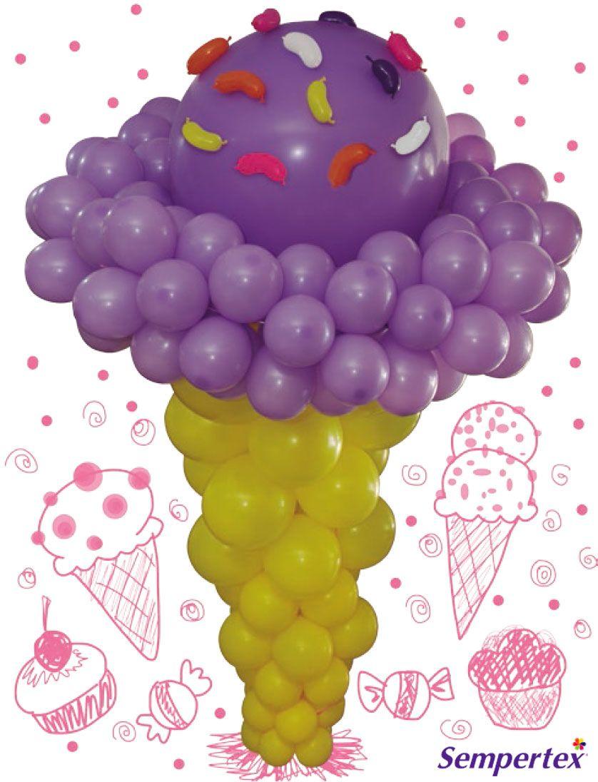 Realiza figuras tipo helado con cono y sorbetes gigantes for Decoracion para sorbetes