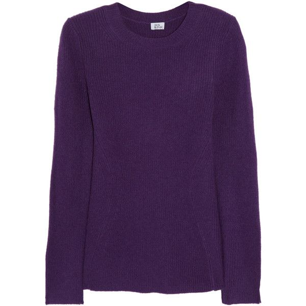 Iris & Ink Seamed cashmere sweater ($180) ❤ liked on Polyvore