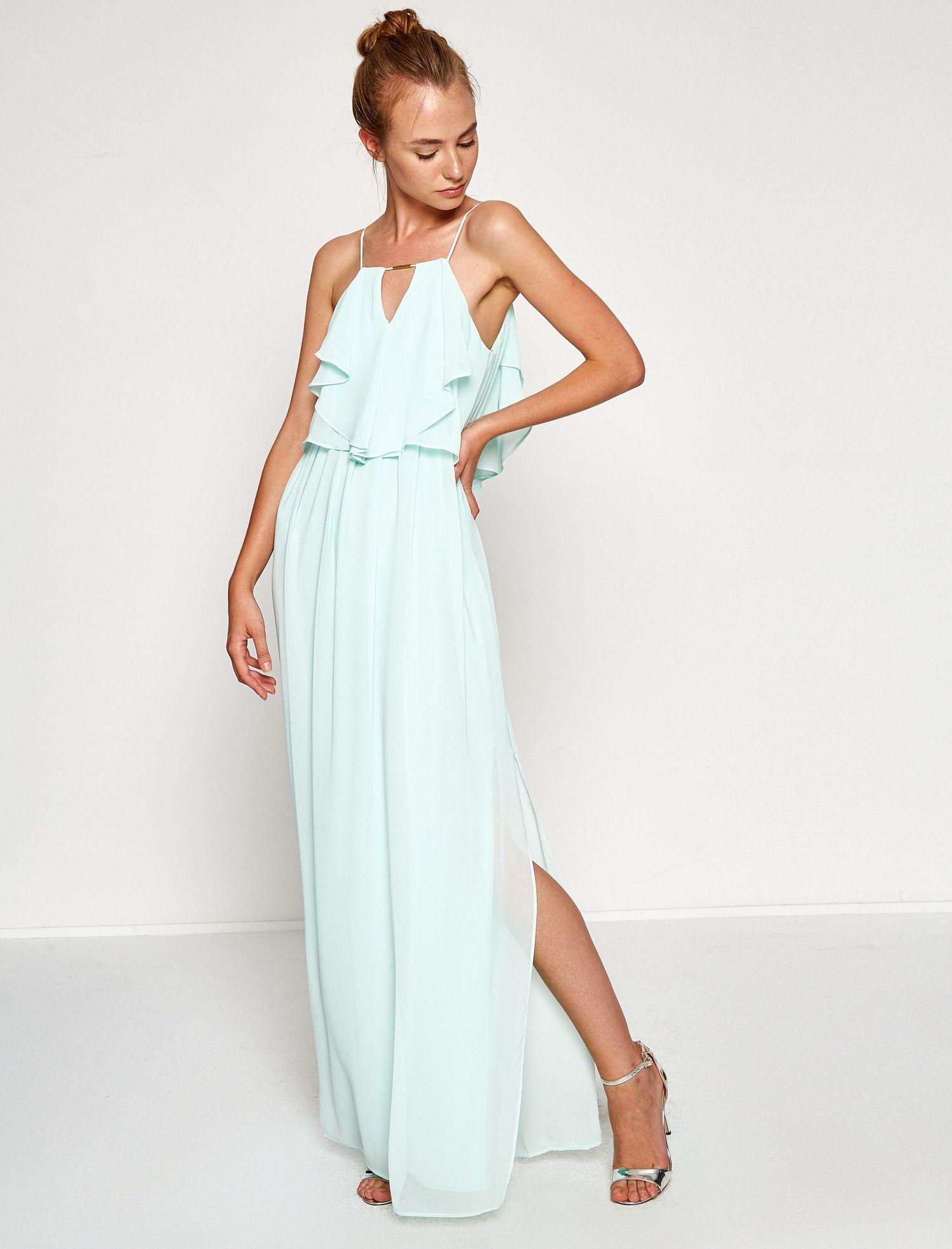Omzu Acik Elbise Elbise The Dress Maksi Elbiseler
