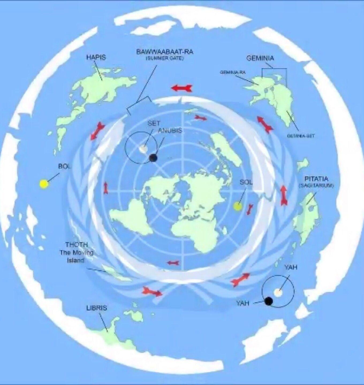 Specific Hawaii Flat Earth Map Flat Earth Wiki Earth Map Flat