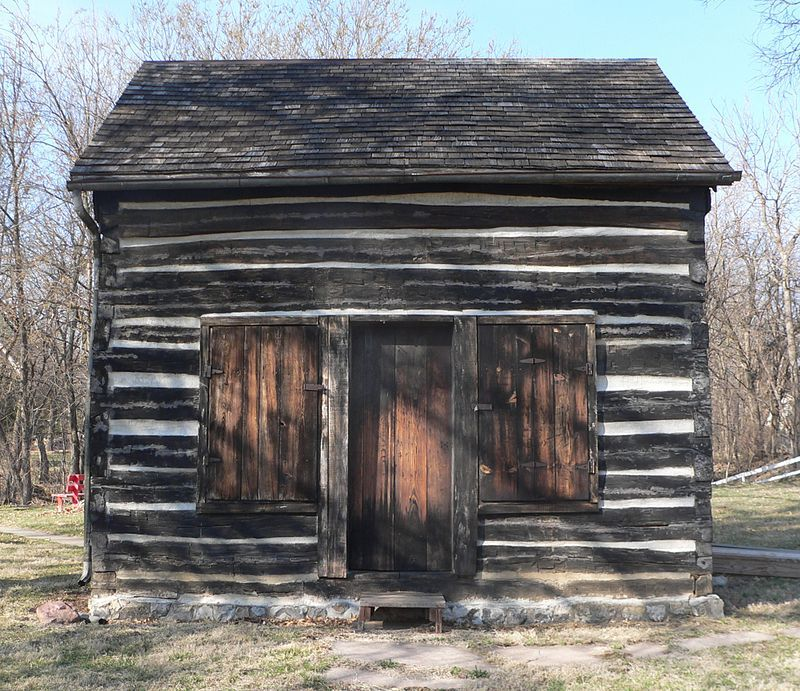 The Mayhew Cabin, also known as John Brown's Cave, in
