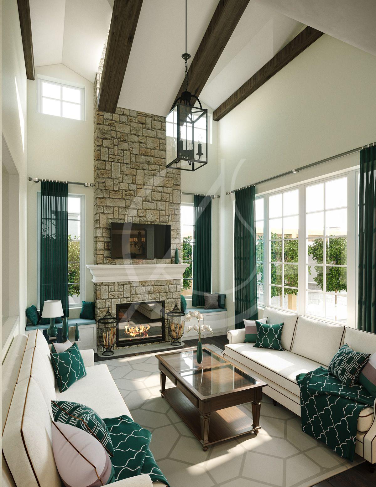 American Style House Interior Design In Dammam Cas American Style House Stone Wall Interior Design American Style Interior