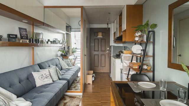 A Student Designed This Studio Unit With A P76 000 Budget Condo Interior Design Condo Interior Design Small Condo Interior
