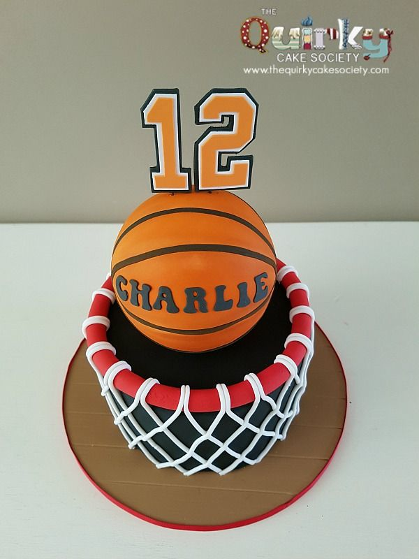 Basketball Hoop Cake Basketball cakes Pinterest Basketball