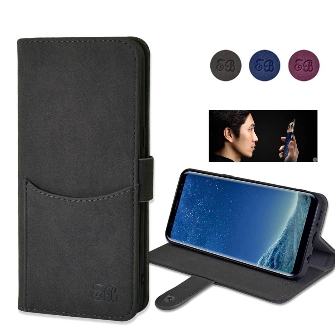 samsung galaxy s8 wallet case eucabulus Galaxy S8 Wallet Case, Flip Kickstand Feature Leather Wallet Case Without Magnet