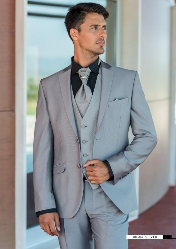 Latest Coat Pant Designs Grey Men Suit Italian Prom Tuxedo Slim Fit ...