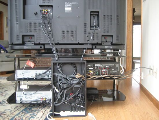 Hide The Wires And Cables Behind The Tv Or Computer House Cord Organization Design