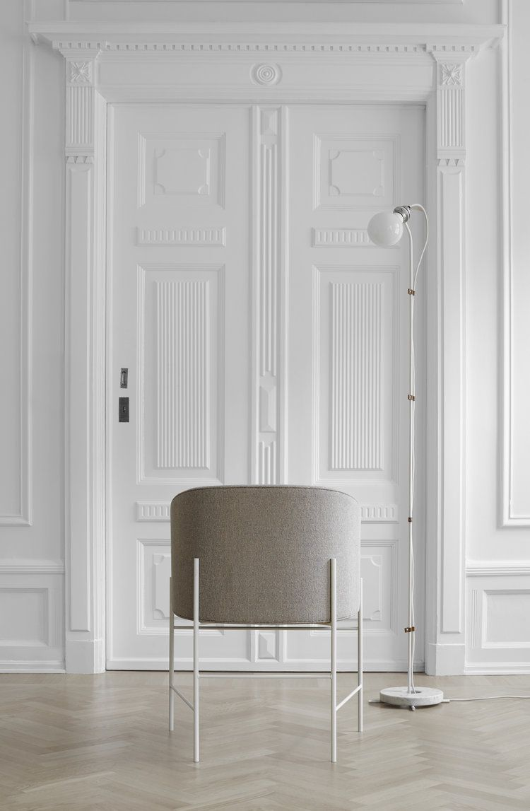 The Covent Dining Chair displays a comforting simplicity, a warm embrace  suitable for an evening around the dinner table or curled up with a book.  Inspired by the geometry of Mondrian's line work, its slim frame shows an  asymmetry that defies its strength, presenting a floating cocoon of soft  fabrics or leather. A chair that has paired traditional craftsmanship with  a truly modern form.    Design Rene Hougaard Dimensions H: 790 x W: 595 x D: 425 mm      COMING SOON