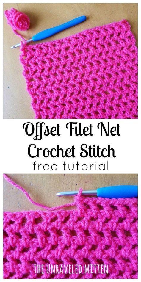 Offset Filet Net Stitch A Crochet Tutorial Knitting And Crochet