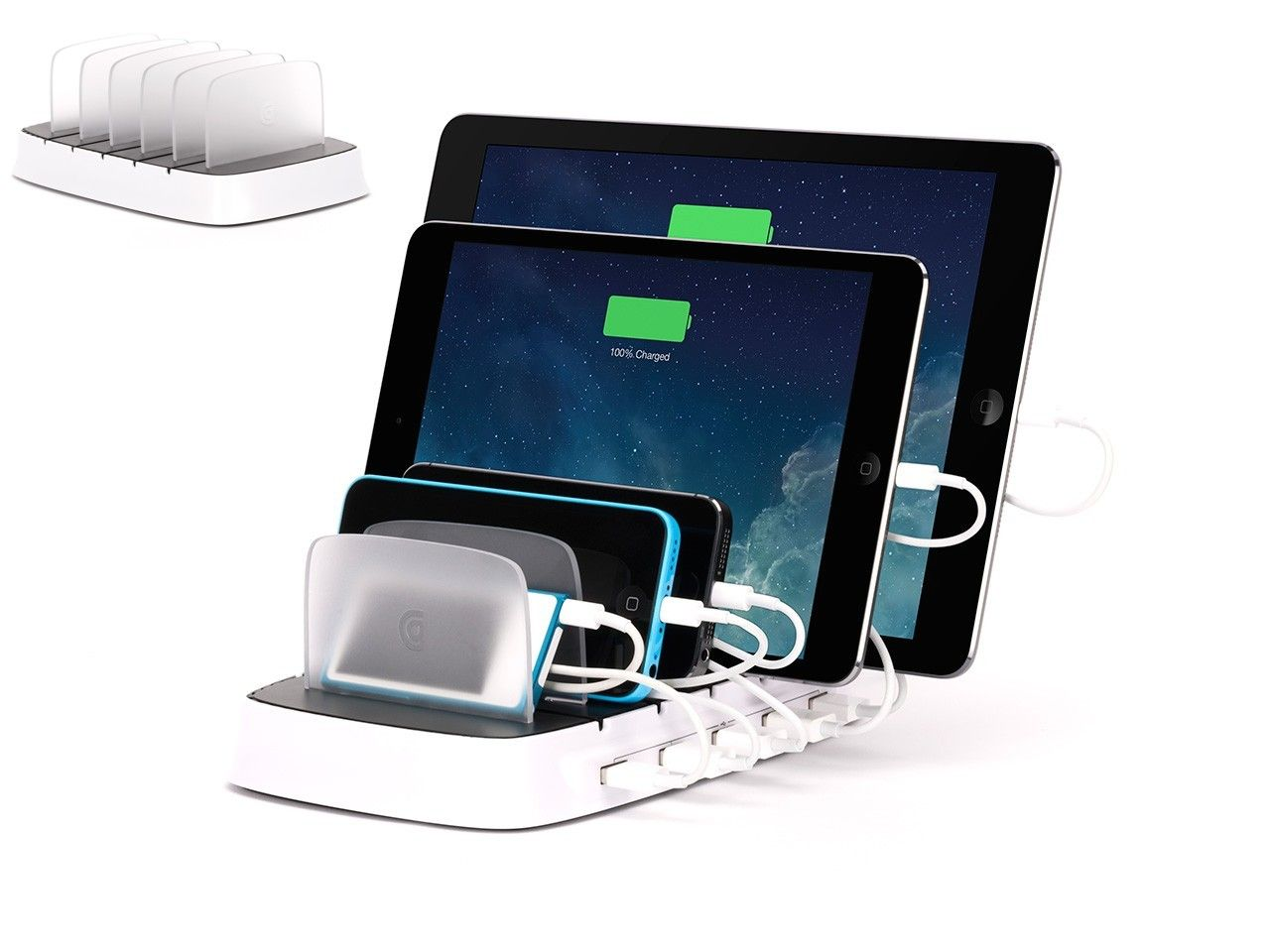Awesome It Gives You A Place To Store And Charge 5 IOS Devices At One Time,