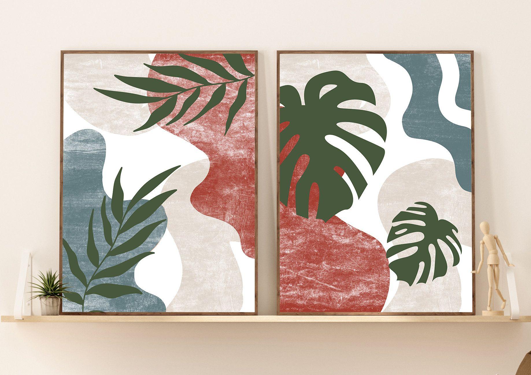 Abstract Botanical Art Set of 20 Prints Boho Gallery Wall art ...
