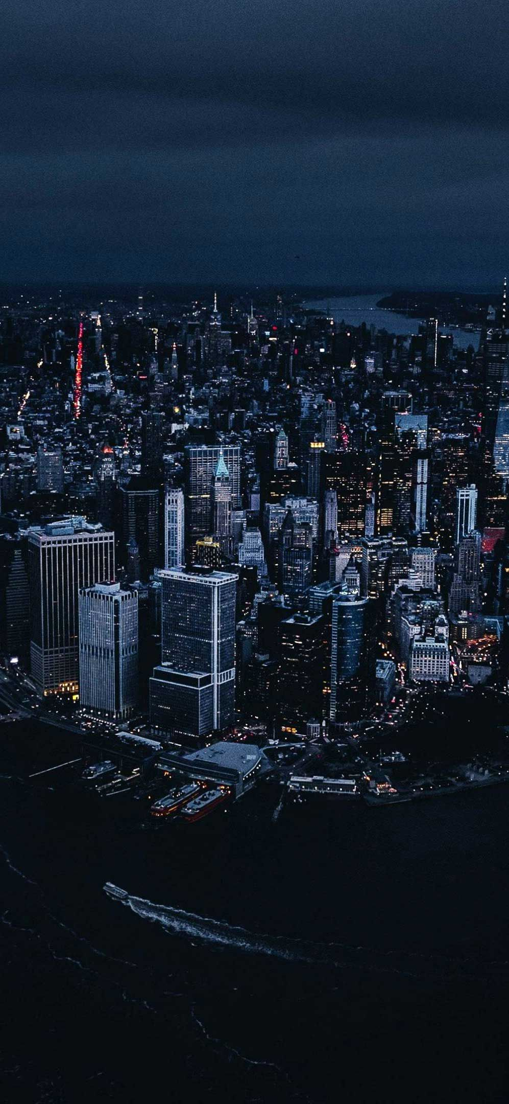 Iphone Wallpaper New York City Aerial View Night Buildings Hd New York Wallpaper New York City Aesthetic Night City Wallpaper Best of new york night wallpaper for