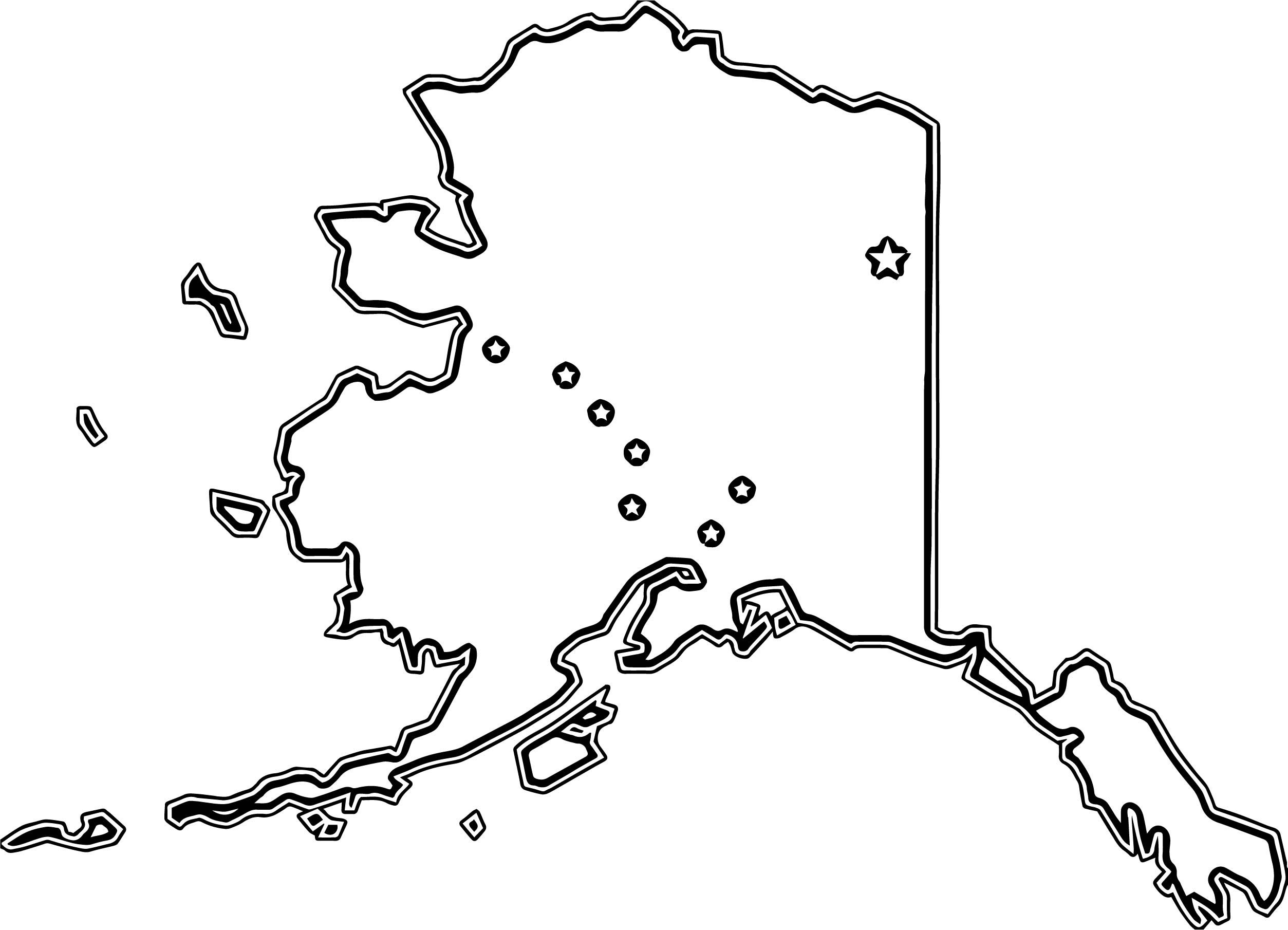 Cool Flag Map Of Alaska Coloring Page Flag Coloring Pages