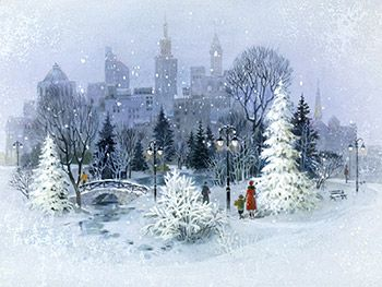 Winter in the City - wallpapers, Free wallpapers Desktop Themes -- American Greetings
