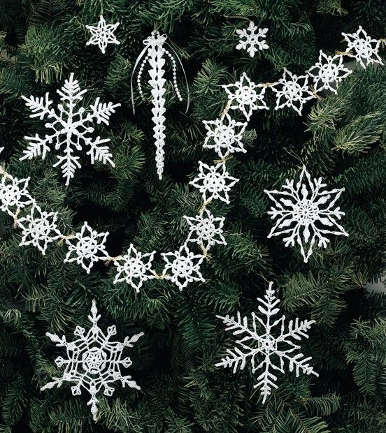 White Christmas In Thread Crochet Crochet Snowflake Pattern Crochet Xmas Crochet Christmas Trees