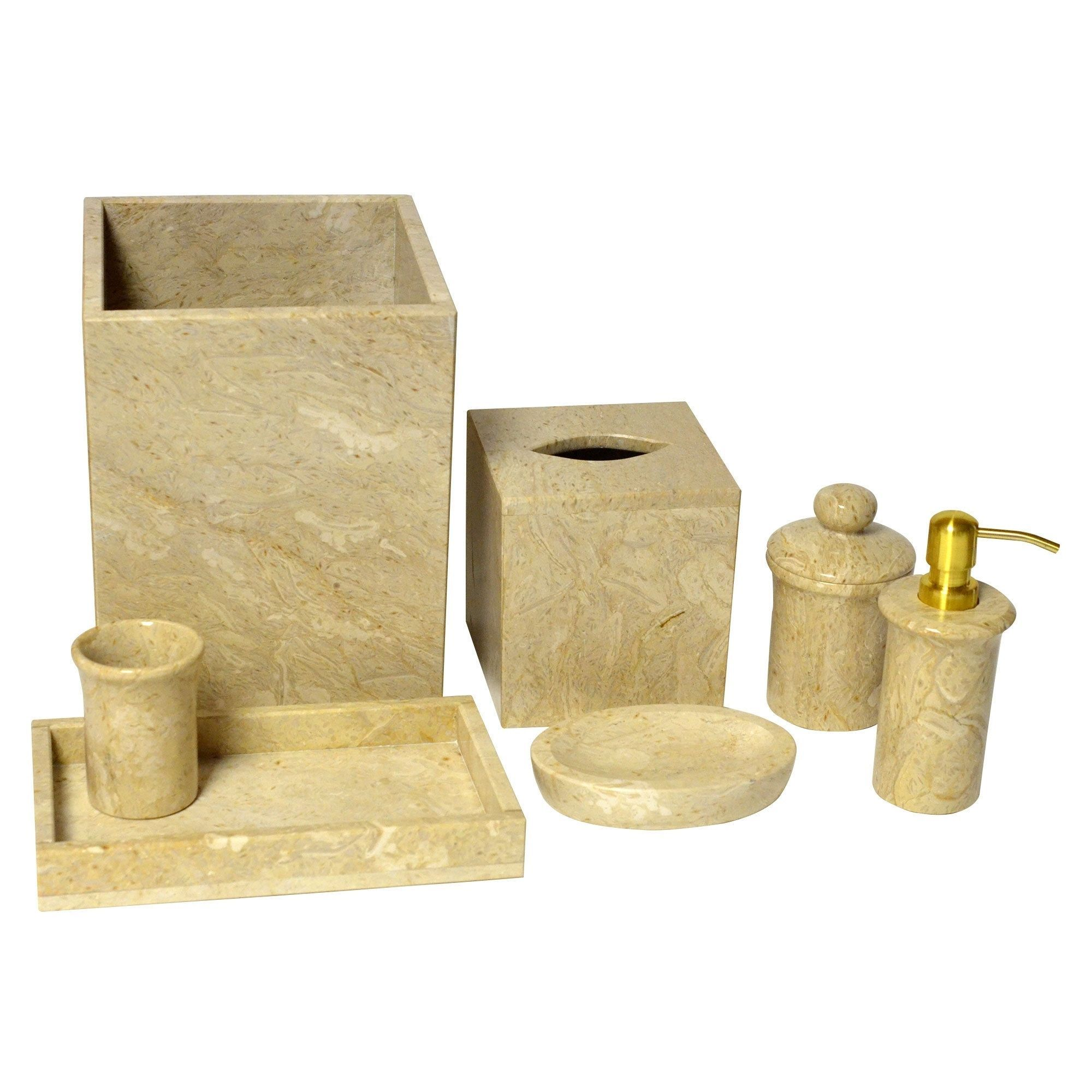 Rembrandt home bath set golden wheat marble piece products