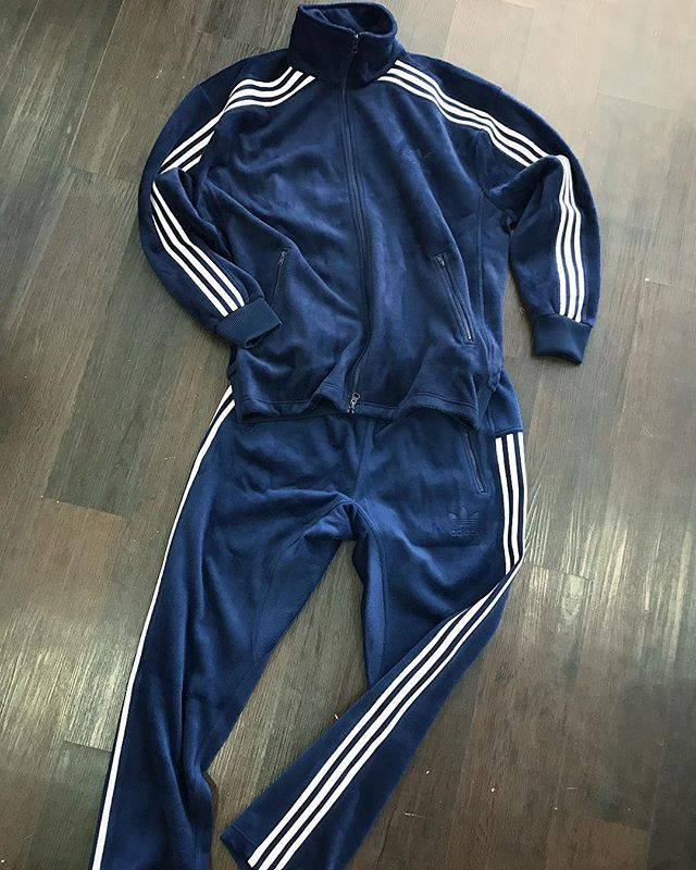 Velour!! The navy velour Beckenbauer tracksuit from