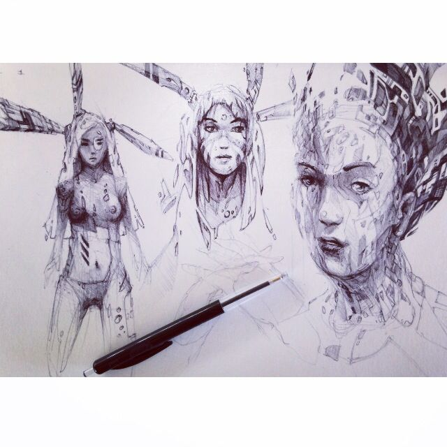 #bic #bicpenonly #sketch