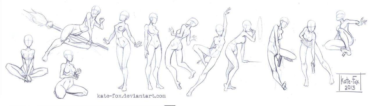 More Pose Studies by Kate-FoX Please do not remove... - How to Art ...