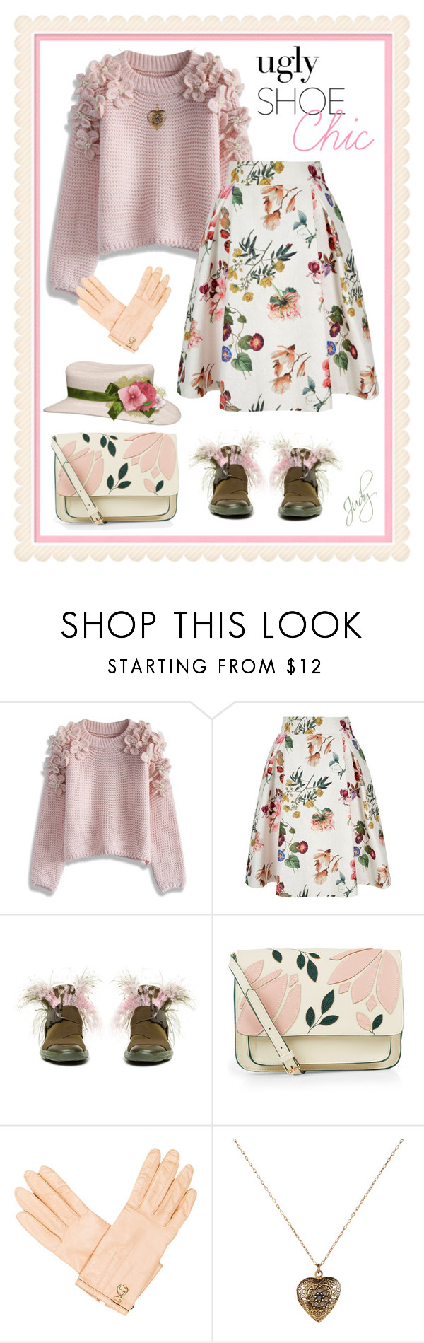 """""""Ugly Cute Shoes"""" by judymjohnson ❤ liked on Polyvore featuring Chicwish, Yumi, Christopher Kane, Accessorize and Gucci"""