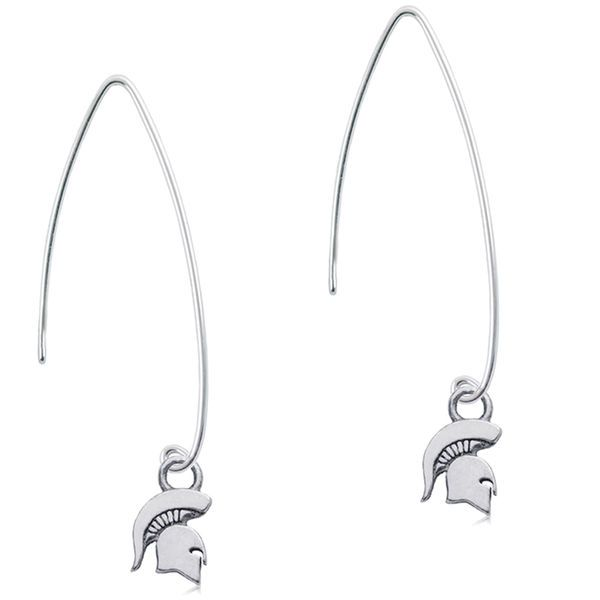 Michigan State Spartans Dayna Designs Women S Sterling Silver Fish Hook Earrings 44 99
