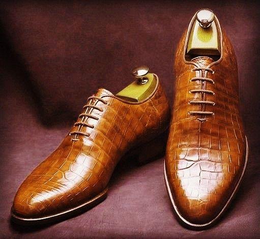 Formal Alligator Business Dress Shoes for Men is part of Brown shoes men - Formal Alligator Business Dress Shoes for Men