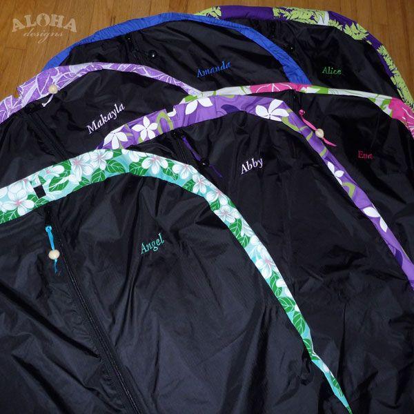 Aloha Designs Garment Bags Hula Ribbon Leis Ipu