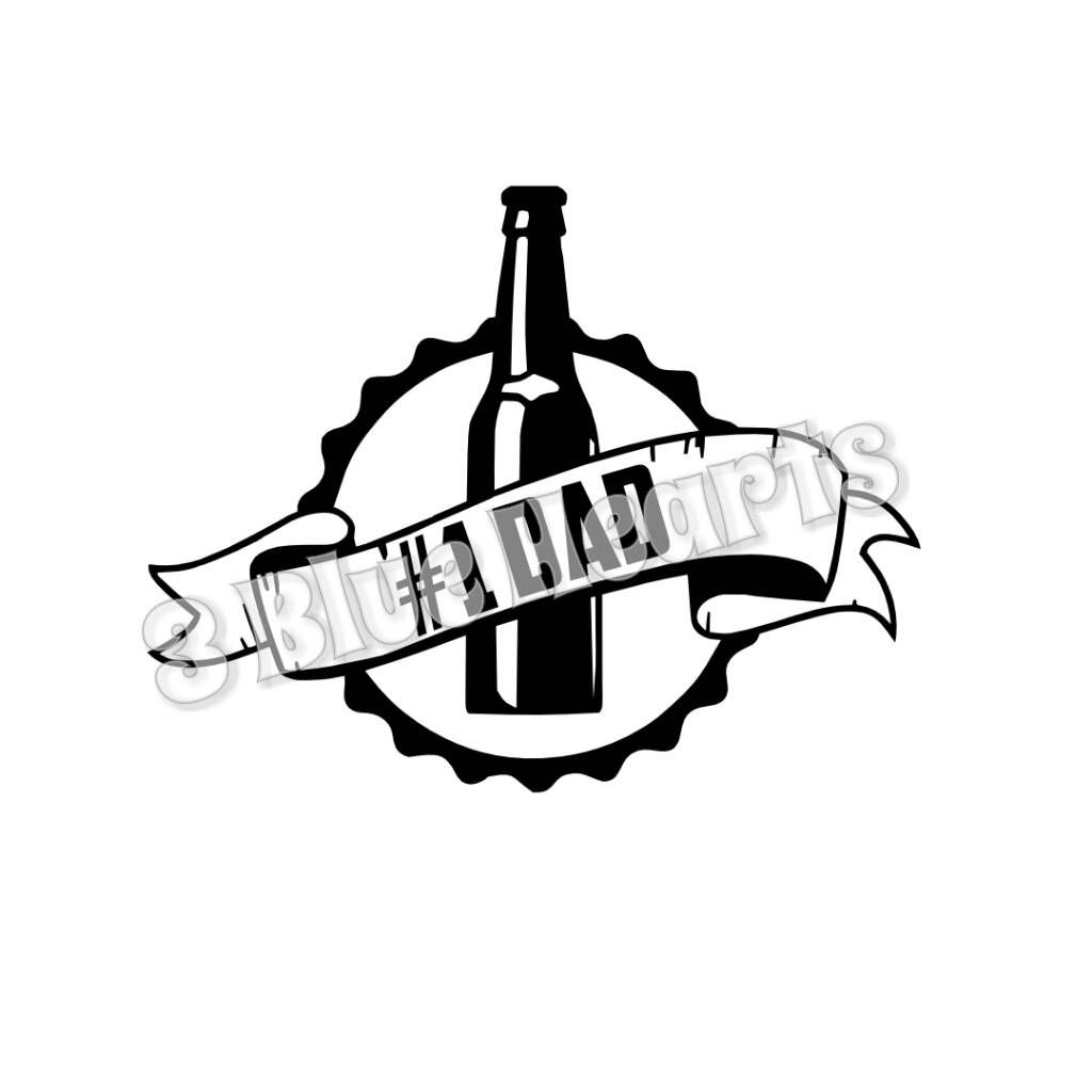 1 Dad Bottle Cap svg studio dxf pdf jg png by 3BlueHeartsDesign on Etsy