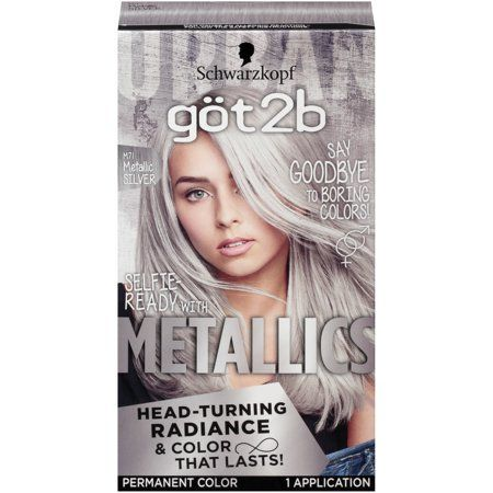 Got2b Metallic Permanent Hair Color, M71 Metallic Silver in ...