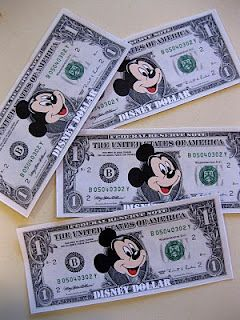 Link For Printable Disney Dollars As Rewards For Chore