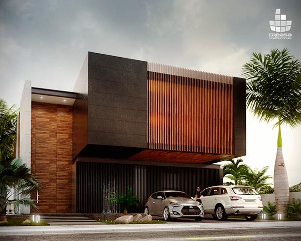 Altozano on behance modern residential buildings - Construcciones de casas modernas ...