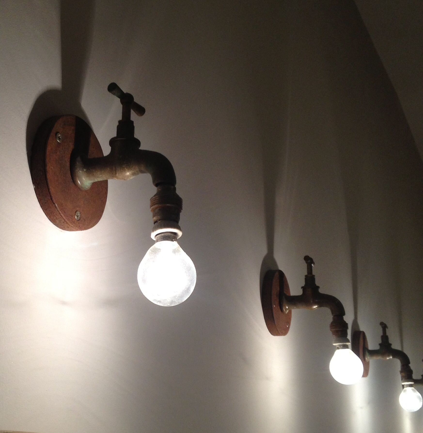 old industrial lighting. Original Lighting Made With Old Taps. Industrial