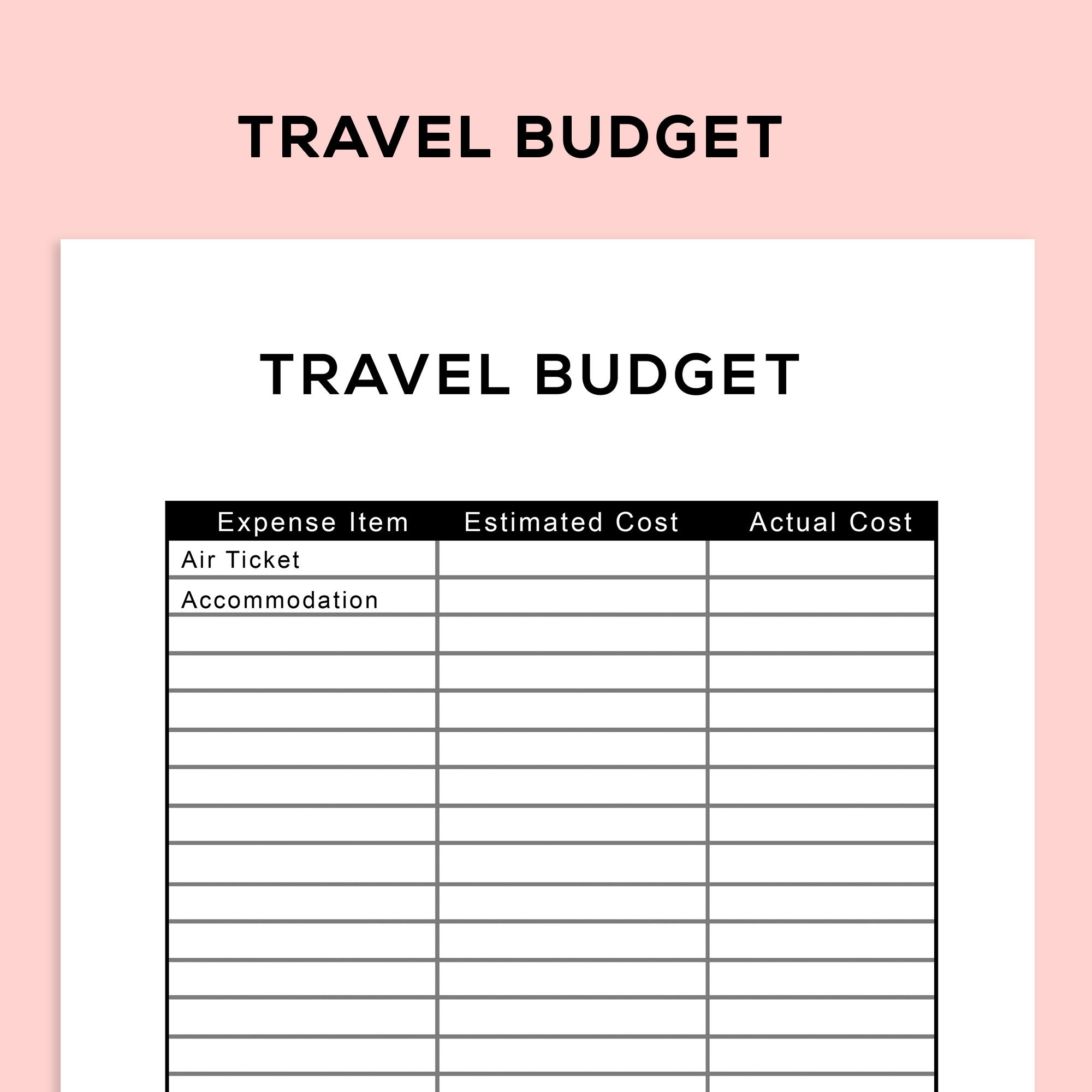 Use This Travel Budget Planner To Work Out The Budget For Your