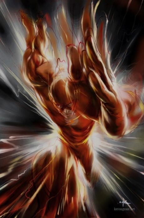 Flash Art   #comics You can't touch this Flash in motion art.