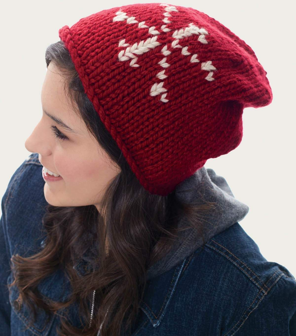 How To Make A Snowflake Hat | free Knitting patterns | Pinterest ...