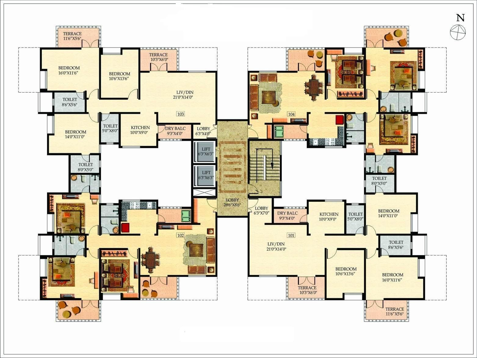 6 bedroom mansion floor plans design ideas 2017 2018 for Modern 5 bedroom house floor plans